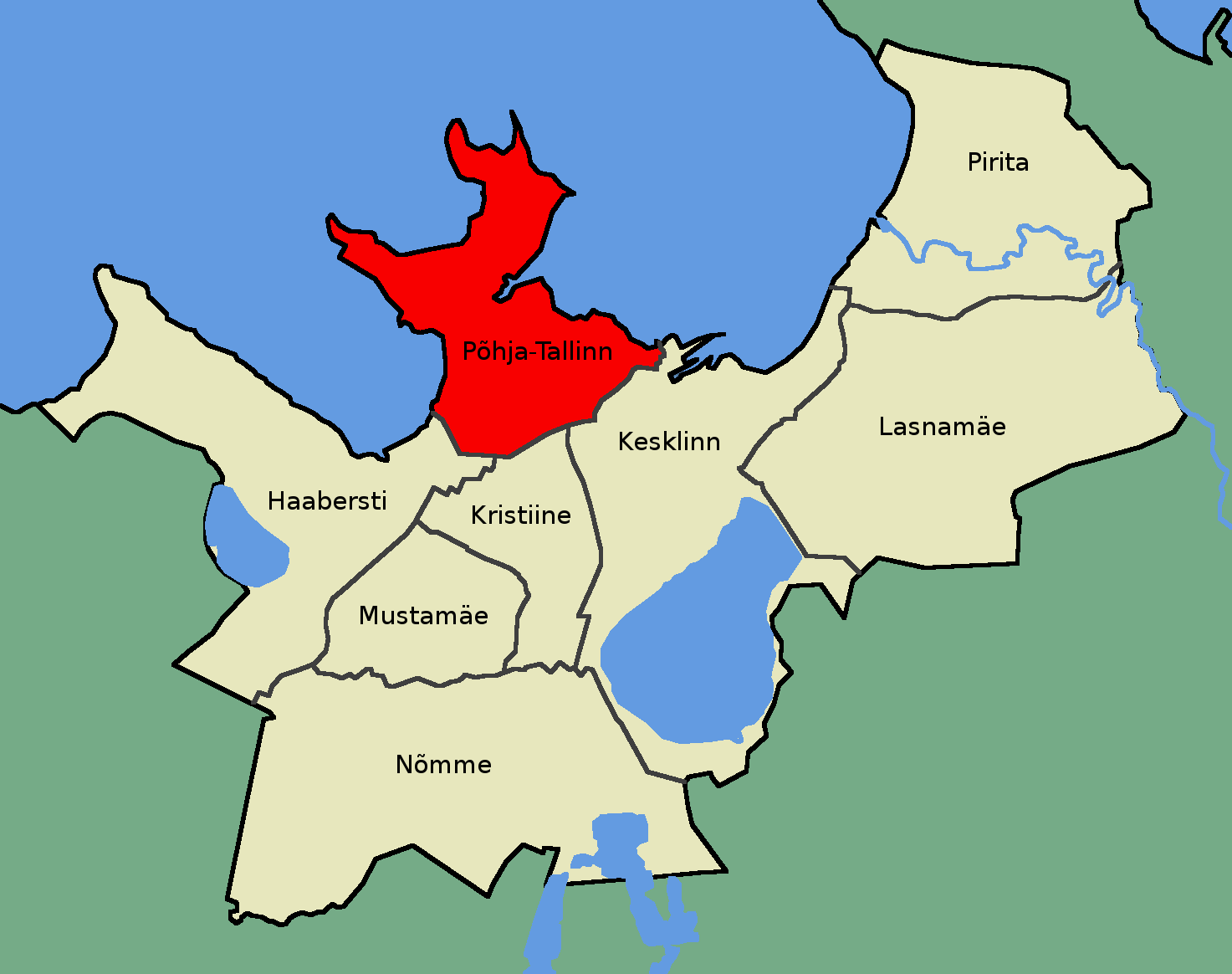 Карта района Пыхья-Таллин. Источник: ru.wikipedia.org . Автор: Mmh - собственная работа, CC BY-SA 3.0, https://commons.wikimedia.org/w/index.php?curid=8049489 .