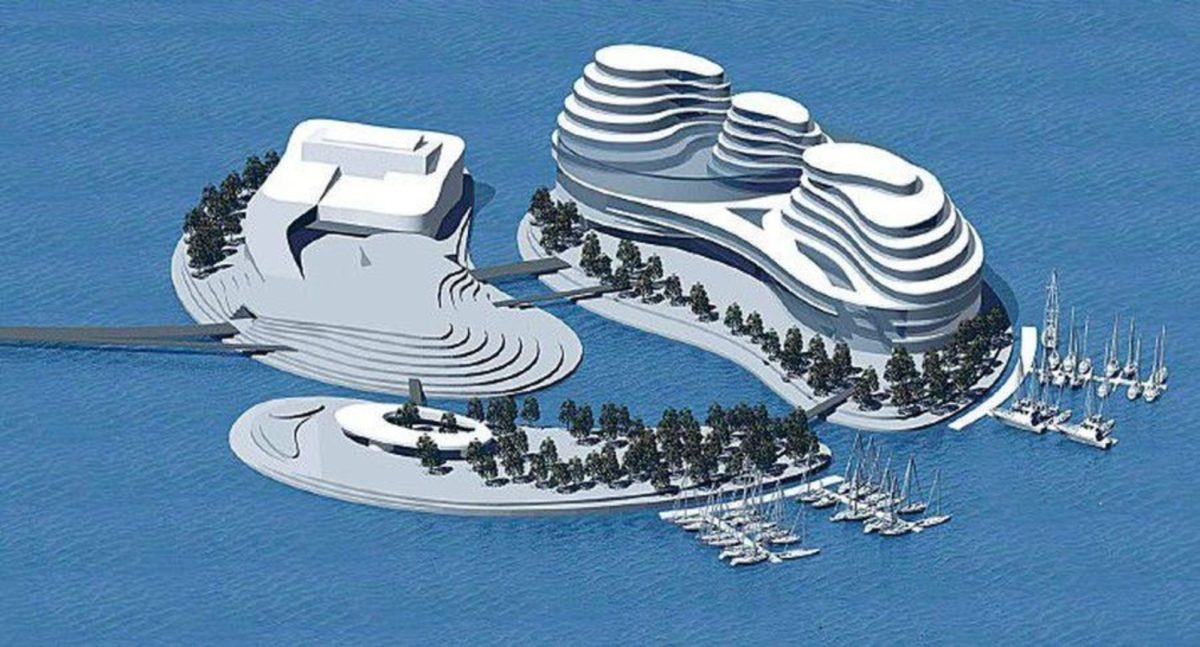 Проект искусственных островов на Пальяссааре. Автор: Материалы для прессы.